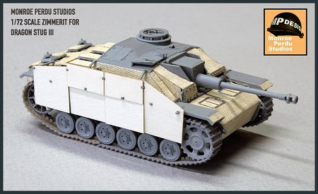 Checkered Pattern Zimmerit for 1/72 Scale Stug III