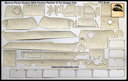 MAN Factory Zimmerit For 1/72 Scale Dragon Panther G