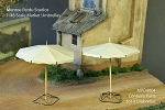 1/48 Scale Market Umbrellas