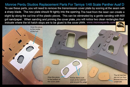 1/48 Scale Panther D/A Transmission Hatch
