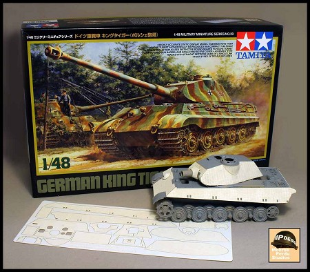 1/48 Scale Zimmerit For KingTiger Porsche Turret - Version A