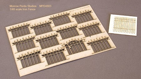1/48 Scale Iron Fence